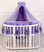 Exclusive bed set with pillow-nest - Violet