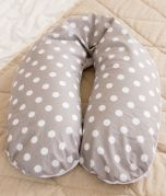 Nursing Pillow - Grey with white dots