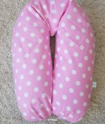 Nursing Pillow - Pink with white dots