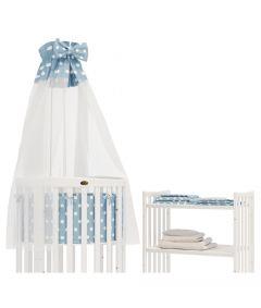 Bettset Hellgrün für ovales Kinderbett Babybett Beistellbett STANDARD 100 by OEKO-TEX ComfortBaby