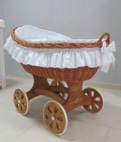 Baby Stubenwagen Handgemacht Handarbeit Echt mit Rollen