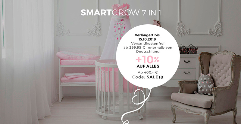 Smart Grow 7in1 Babybett