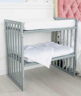 Baby Crib Smartgrow 7in1 Round Wood Colour White Bedding Set